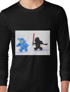 Lego Star Wars Darth Vader and Shark Suit Guy Pursuit Minifigure Long Sleeve T-Shirt