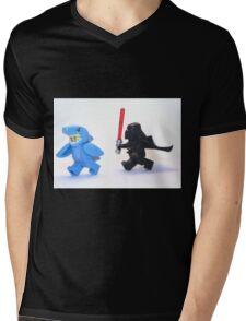 Lego Star Wars Darth Vader and Shark Suit Guy Pursuit Minifigure Mens V-Neck T-Shirt