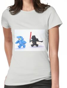 Lego Star Wars Darth Vader and Shark Suit Guy Pursuit Minifigure Womens Fitted T-Shirt