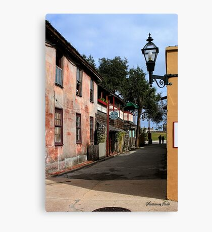 Fort Alley ~ A Very Old Street Canvas Print