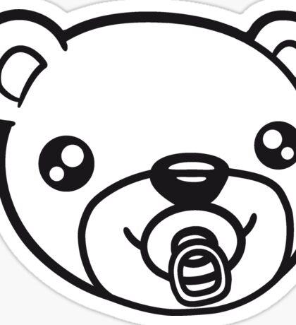 face head baby pacifier diaper child sweet cute small comic cartoon teddy bear Sticker