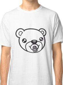 face head baby pacifier diaper child sweet cute small comic cartoon teddy bear Classic T-Shirt