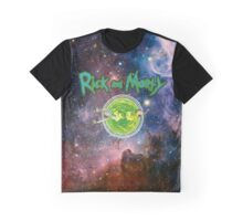 Rick and Morty Galaxy Graphic T-Shirt
