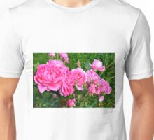 Pink rose in the garden. Unisex T-Shirt
