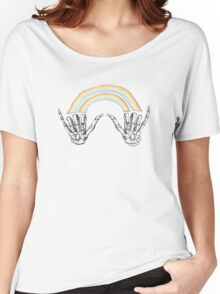 Louis' skeleton hands double rainbow Women's Relaxed Fit T-Shirt