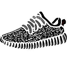 Yeezy Boost 350 - Transparent Black Photographic Print