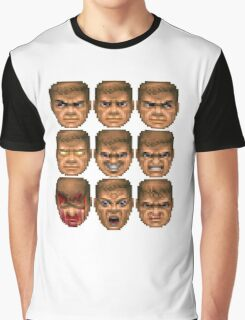 Doom faces Graphic T-Shirt
