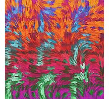 Florescent Purple Pink Green Abstract Pattern  Photographic Print