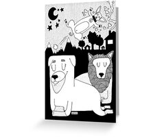 The dog family Greeting Card