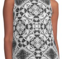 Tribal Fractals | Black White Geometric Contrast Tank