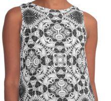 Tribal Fractals | Black White Geometric Contrast Tank
