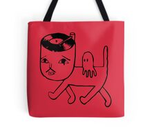 Cat with music in its head Tote Bag