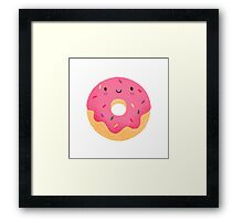 Happy donut Framed Print