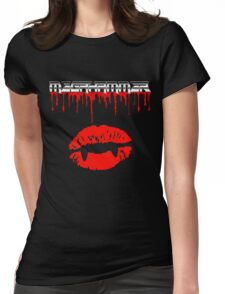 Vampire lips Womens Fitted T-Shirt