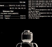Lego Man Patent 1979 Sticker