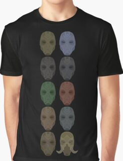 Mask Collection Graphic T-Shirt