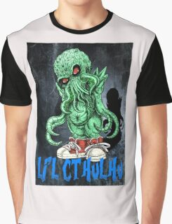 HP LOVECRAFT LIL CTHULHU (BACK GROUND) Graphic T-Shirt