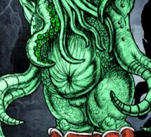 HP LOVECRAFT LIL CTHULHU (BACK GROUND) Sticker