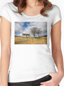 Highland Cottage. Women's Fitted Scoop T-Shirt