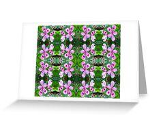 Wild Pink Geraniums Greeting Card