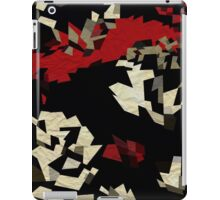 Black Red Cream Textured Abstract  iPad Case/Skin