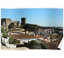 Medieval Obidos, historic walled city in Portugal Poster