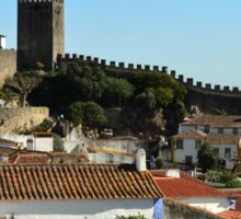 Medieval Obidos, historic walled city in Portugal Sticker