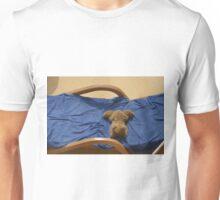 hot dog relaxing on deck Unisex T-Shirt