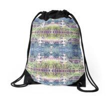 Soft Blue Green Fountain Drawstring Bag
