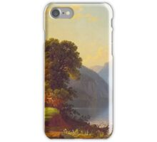 George Caleb Bingham - A View Of A Lake In The Mountains - American Landscape iPhone Case/Skin