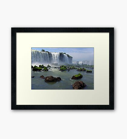 At the edge of the Devil's Throat Framed Print
