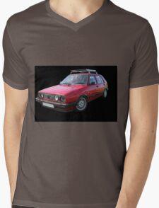 VW Golf GTI Mk2 Mens V-Neck T-Shirt