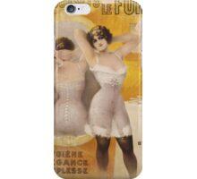 Vintage famous art - Gaston Noury - Les Corsets Le Furet Poster iPhone Case/Skin