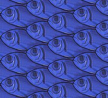 Blue Fish Pattern by Colin Bentham