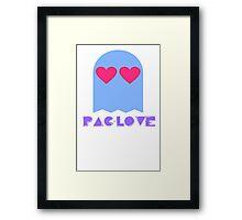 PAC-LOVE Framed Print