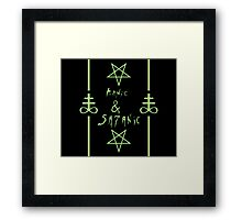 Manic & Satanic (Green) Framed Print