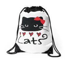 Love Cats Drawstring Bag