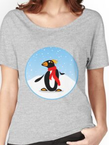 Marconi Penguin with Red Scarf Women's Relaxed Fit T-Shirt