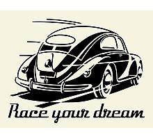Beetle Car - Race your Dream Car Photographic Print