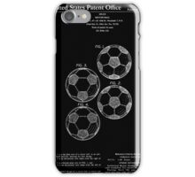 Soccer Ball Patent - Black iPhone Case/Skin