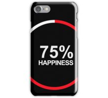 75% HAPPINESS iPhone Case/Skin