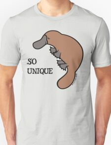DUCK-BILLED PLATYPUS - SO UNIQUE  Unisex T-Shirt