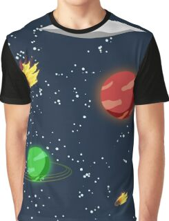 Meteors and Stars (and Spaceships) Graphic T-Shirt