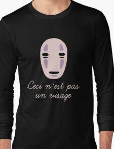 Ceci un visage Long Sleeve T-Shirt