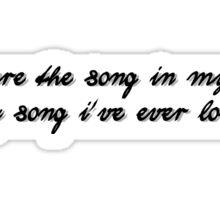 Favorite Record Lyric Sticker