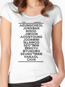 love seventeen white Women's Fitted Scoop T-Shirt