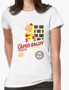 Super caped baldy Womens Fitted T-Shirt