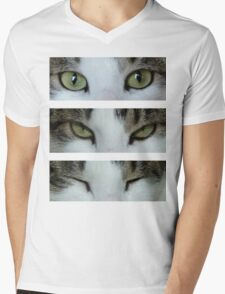 I can see you ~ Cat Mens V-Neck T-Shirt