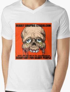 DEADLY GRAPHIC STUDIO EXPO Mens V-Neck T-Shirt