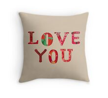 Love You Text Art - Happy Quote Throw Pillow